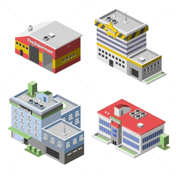 GraphicRiver Government Buildings Set 9816041