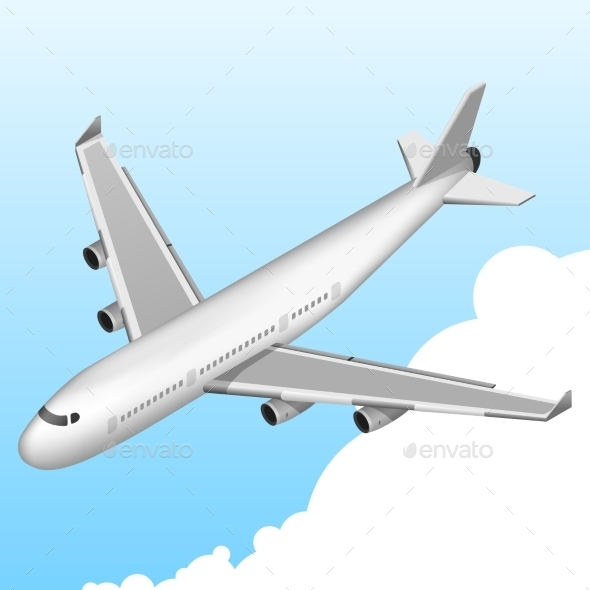 Airplane Isometric Icon