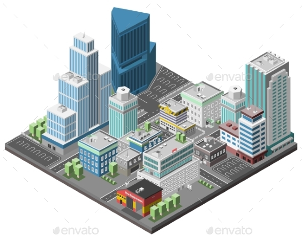 GraphicRiver City Downtown Concept 9816053