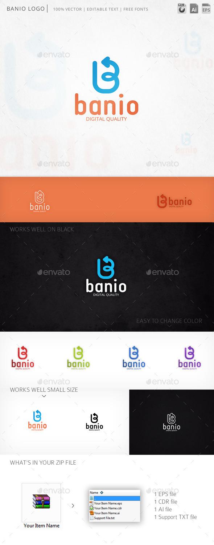 GraphicRiver Banio Logo 9816215