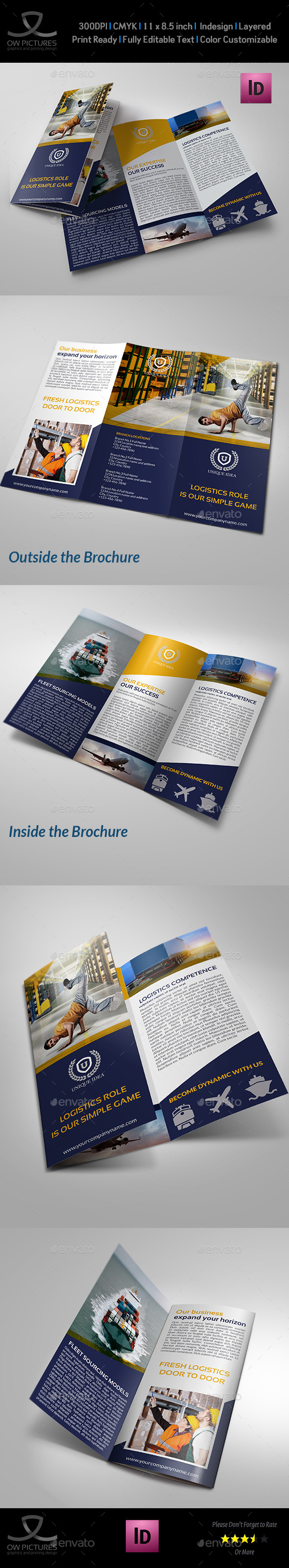 Logistic Services Tri-Fold Brochure Template Vol2