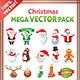 Christmas Mega Stock Vector Graphics Pack
