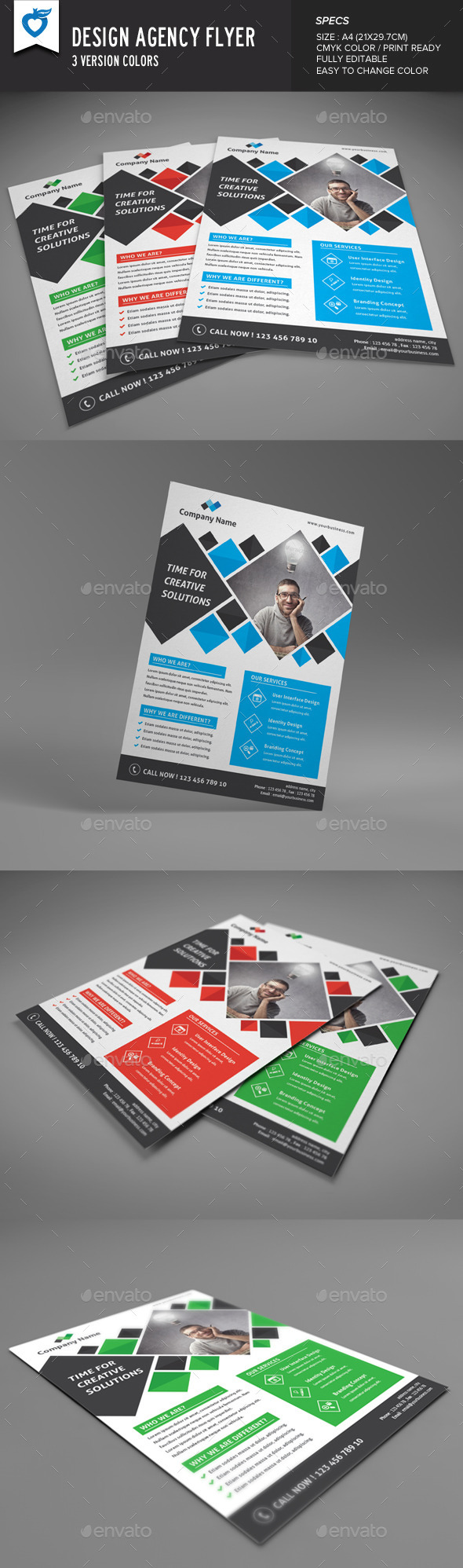 GraphicRiver Design Agency Flyer 9816464