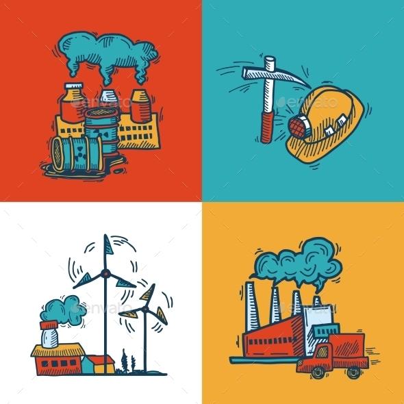 GraphicRiver Industrial Sketch Banner Design 9816581