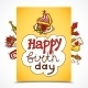 Birthday Card Sketch - GraphicRiver Item for Sale