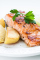 Salmon with Potatoes - PhotoDune Item for Sale