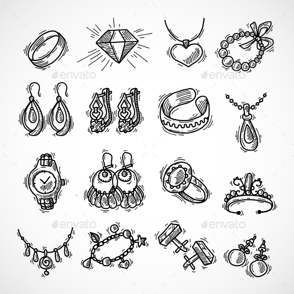 GraphicRiver Jewelry Icons Set 9816658
