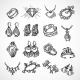 Jewelry Icons Set - GraphicRiver Item for Sale
