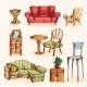 Furniture Sketch Colored - GraphicRiver Item for Sale