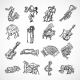 Jazz Icons Sketch - GraphicRiver Item for Sale
