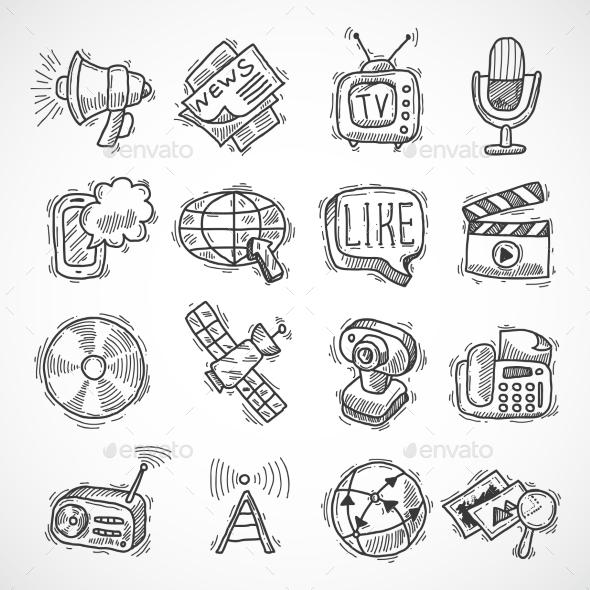 GraphicRiver Media Icons Set 9816715