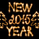 Happy New Year 2015 made of sparkles on black - PhotoDune Item for Sale