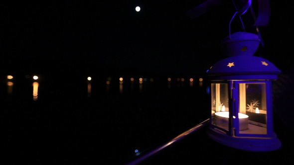 Lantern Near The Lake In The Night Pack of 2