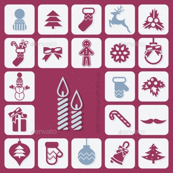 GraphicRiver Christmas Icons Set 9816832