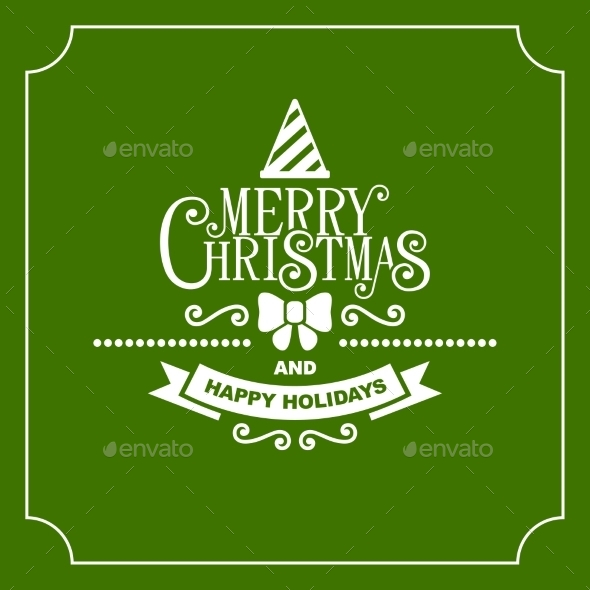 Christmas Retro Typographic Background