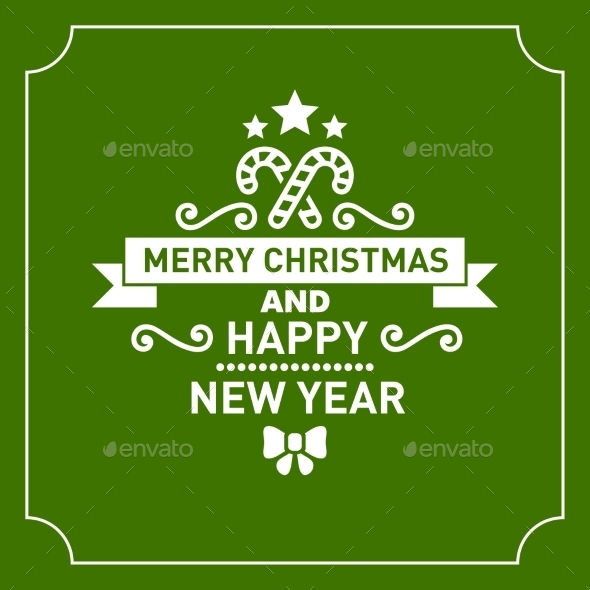GraphicRiver Christmas Retro Typographic Background 9817045