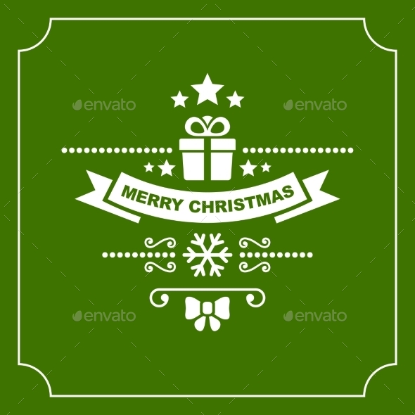 GraphicRiver Christmas Retro Typographic Background 9817047