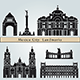 Mexico City Landmarks and Monuments - GraphicRiver Item for Sale