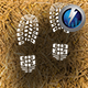 Dry Grass Footstep Pack