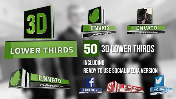 AE模板:50组三维现代新闻媒体 人物介绍 电视栏目包装字幕条E3D V2模板