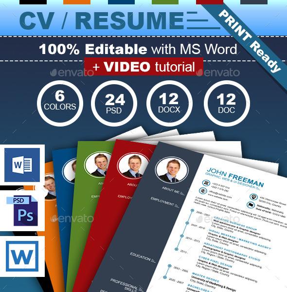GraphicRiver New CV Resume 9719734