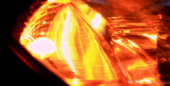 Blinking Orange Light
