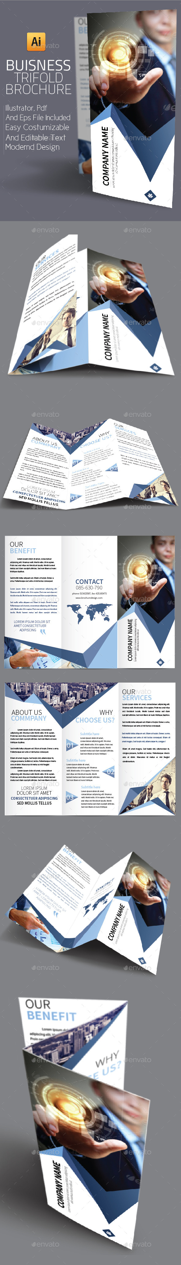GraphicRiver Business Trifold Brochure 9817332