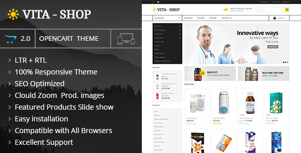 ThemeForest Vita Shop Opencart Responsive Theme 9817500