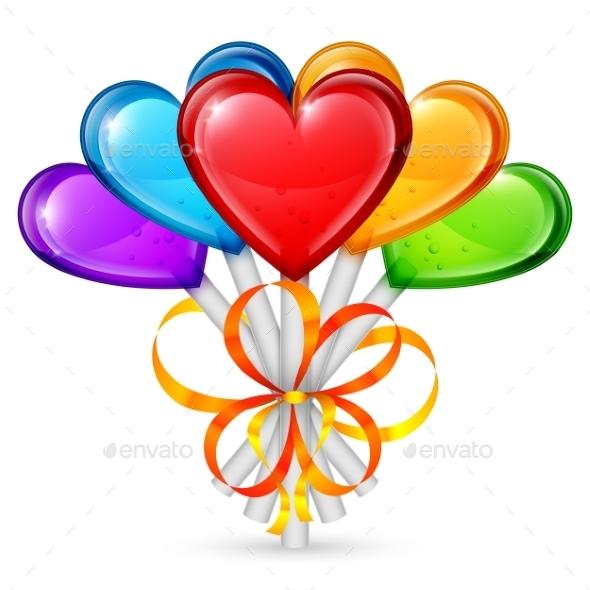 GraphicRiver Heart Lollipops 9817535