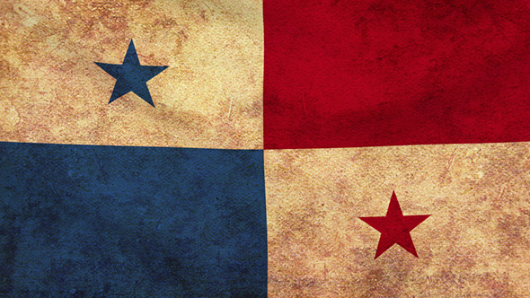 Panama Flag 2 Pack Grunge and Retro