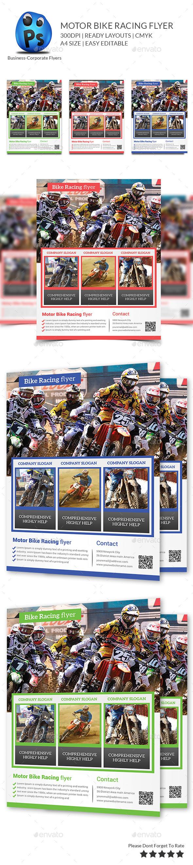 GraphicRiver Bike Racing flyer Print Templates 9817559