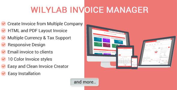 CodeCanyon Wilylab Invoice 9689396
