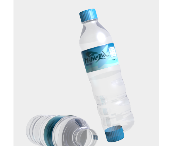 3DOcean mineral water bottle 9817902