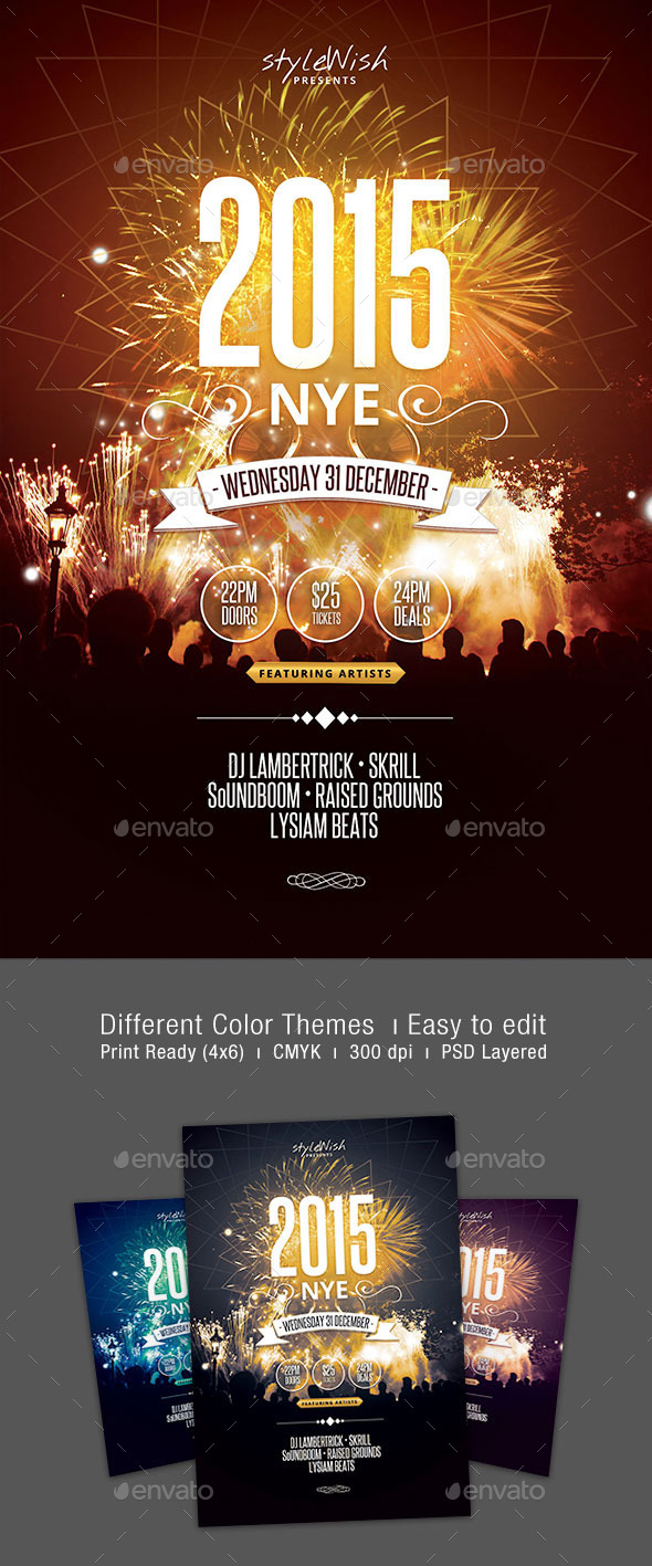 GraphicRiver 2015 NYE Party Flyer 9817946