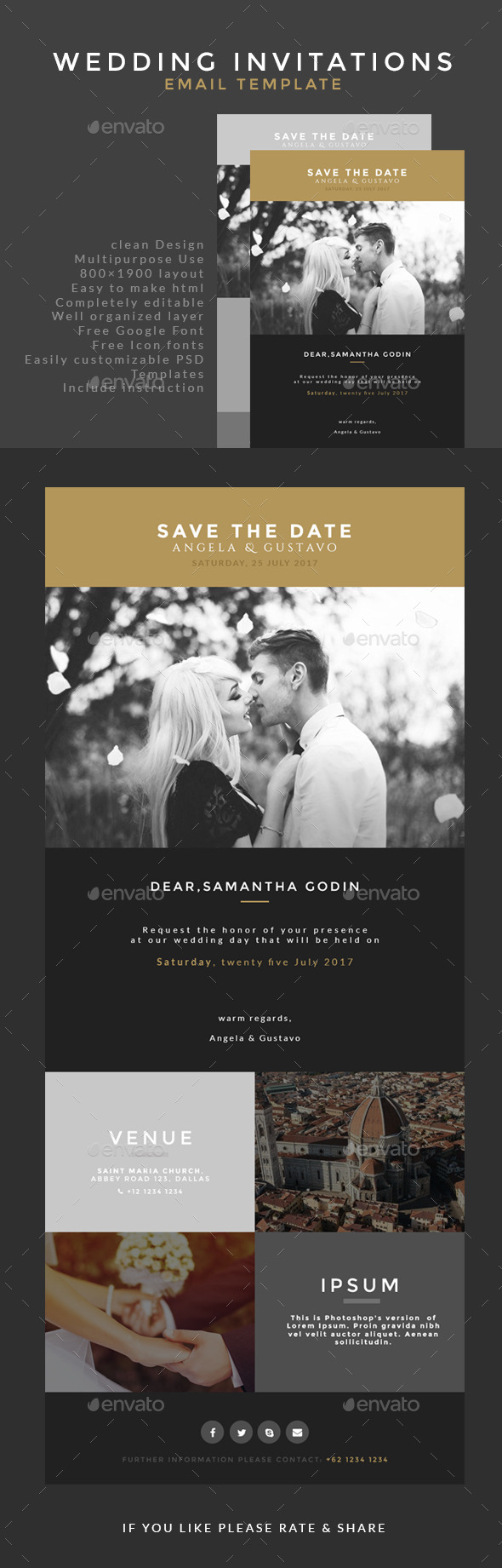 GraphicRiver Wedding Invitation Email Template 9817950