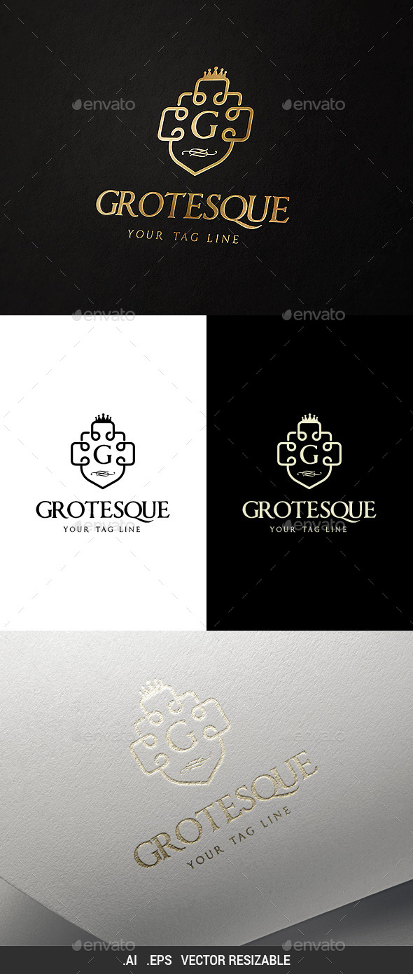 GraphicRiver Grotesque Logo Template 9817968