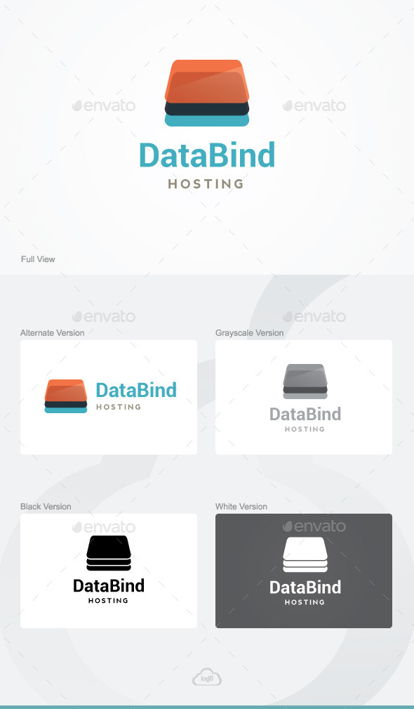 GraphicRiver Data Bind Logo Template 9818075