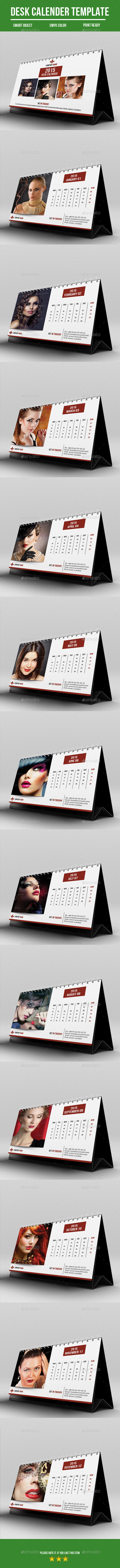 GraphicRiver Desk Calender For 2015 9818077