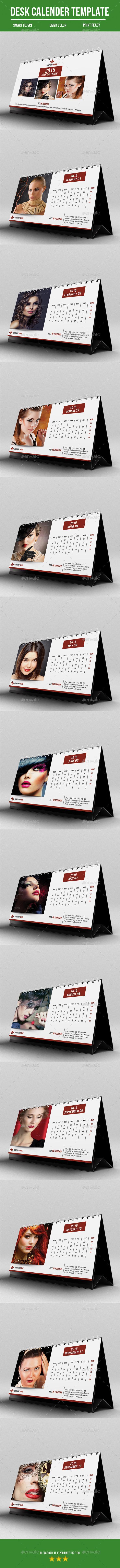 Desk Calender For 2015