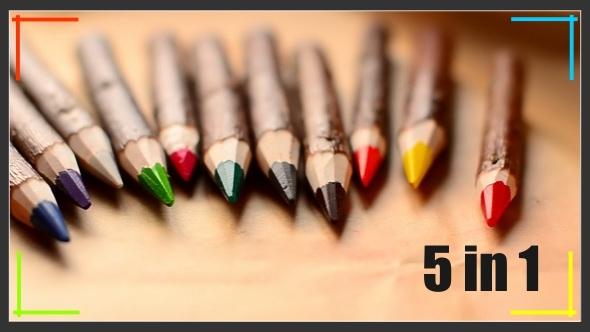 Wood Pencils Pack 5 in 1