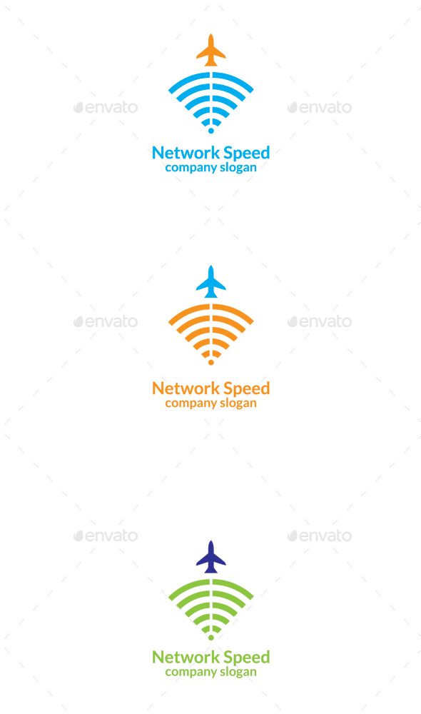 GraphicRiver Network Speed Logo 9818093