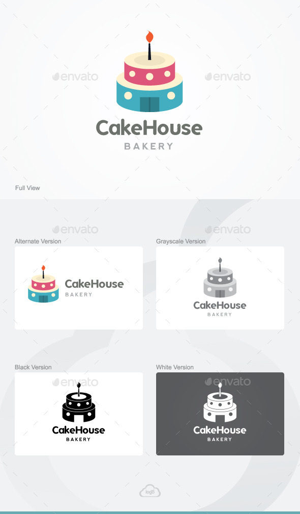 GraphicRiver Cake House Bakery Logo Template 9818102