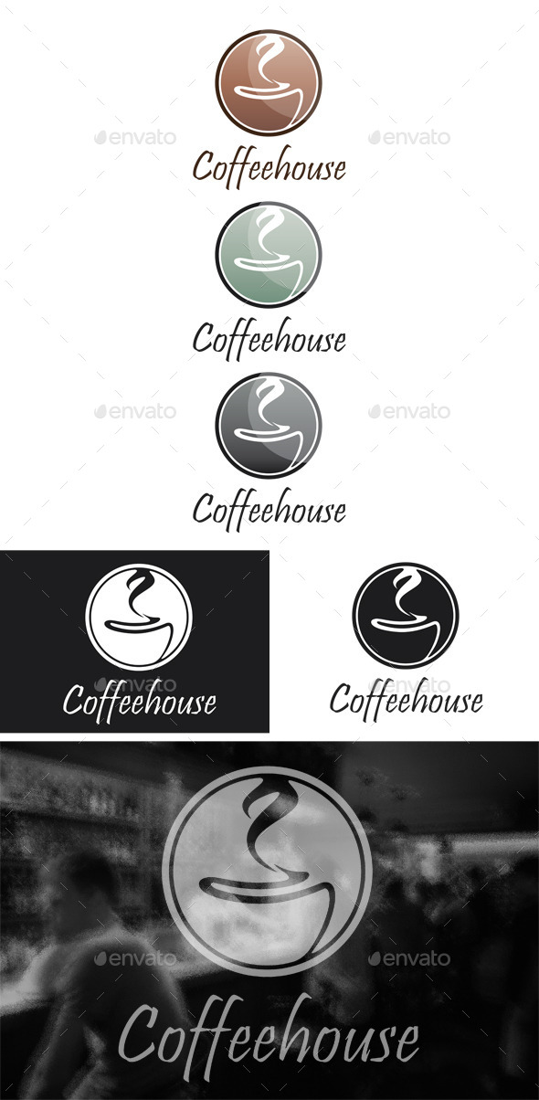 GraphicRiver Coffeehouse Logo 9818144