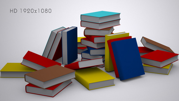 A Stack of Books Background