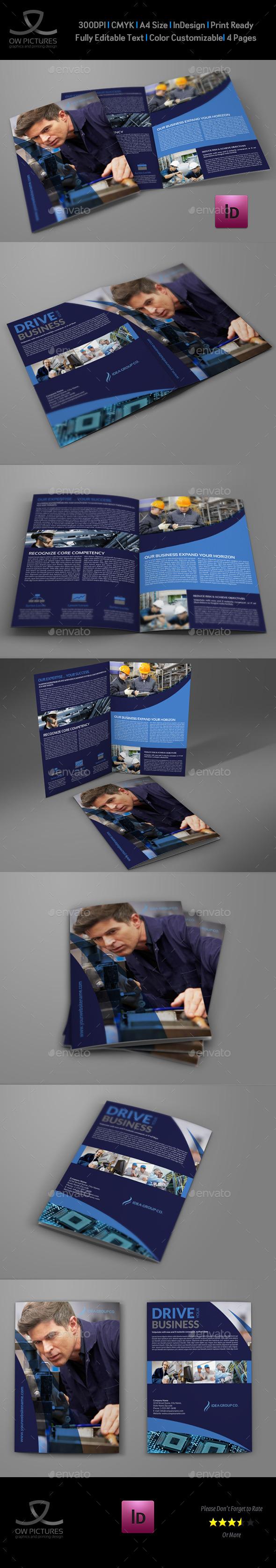 Industrial Company Brochure Bi-Fold Template