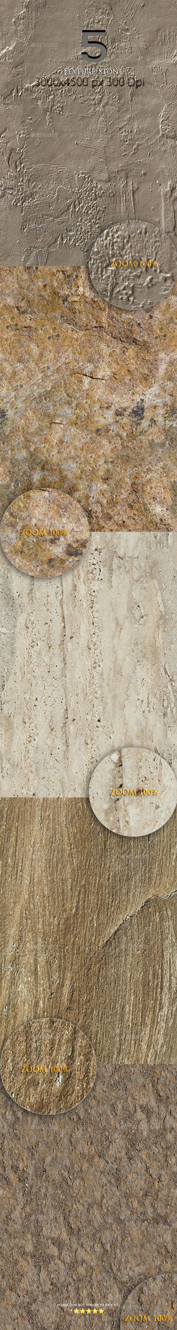 GraphicRiver 5 Texture Stone 9764001