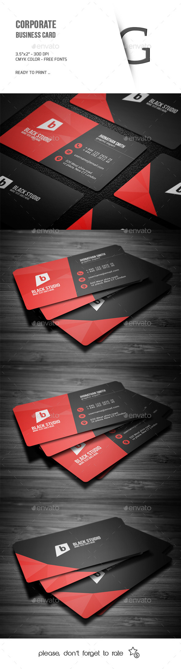 GraphicRiver Corporate Business Card 9818649