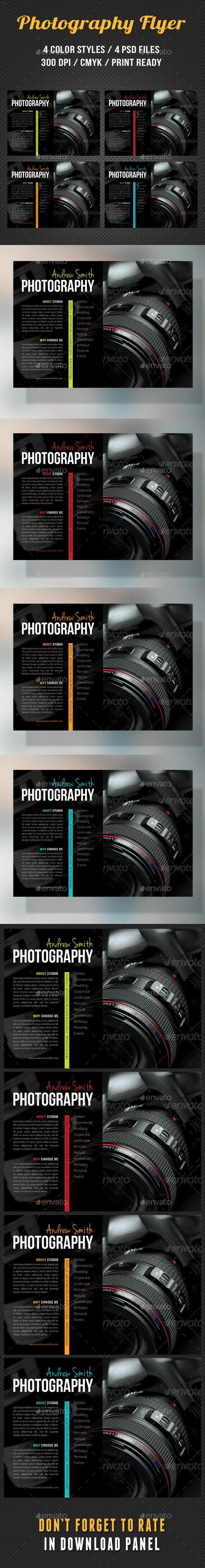 GraphicRiver Photography Studio Flyer 12 9818730