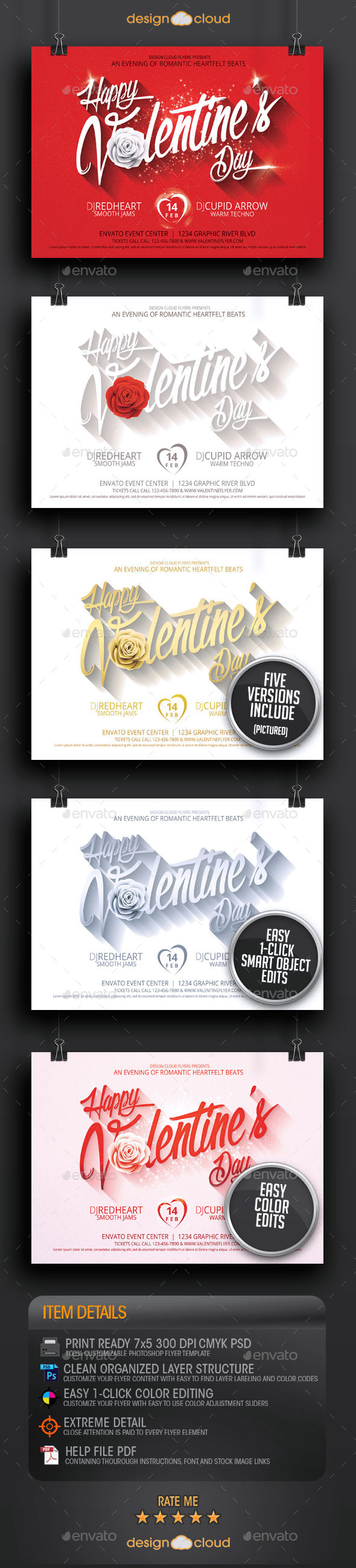 GraphicRiver Valentine s Day Multi Purpose Flyer Templates 9818735