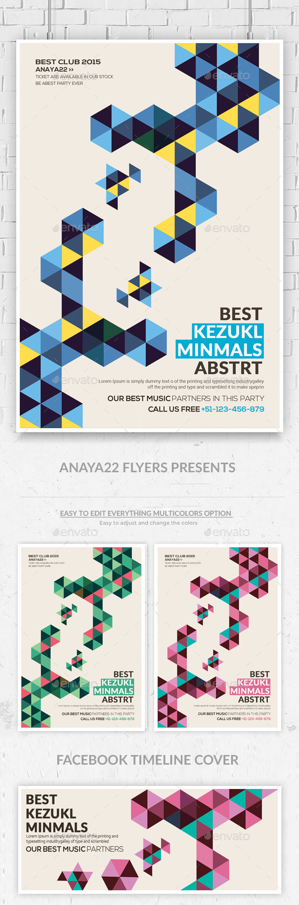 GraphicRiver Minimal Abstract Flyer Templates 9777284